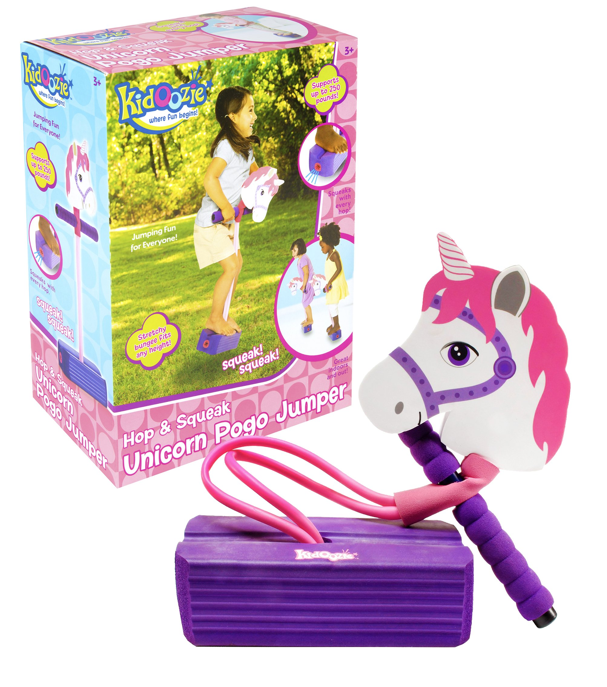 Kidoozie Foam Unicorn Pogo Jumper - Fun and Safe Play - Encourages an Active Lifestyle - Makes Squeaky Sounds - For All Sizes, 250 Pound Capacity by Kidoozie