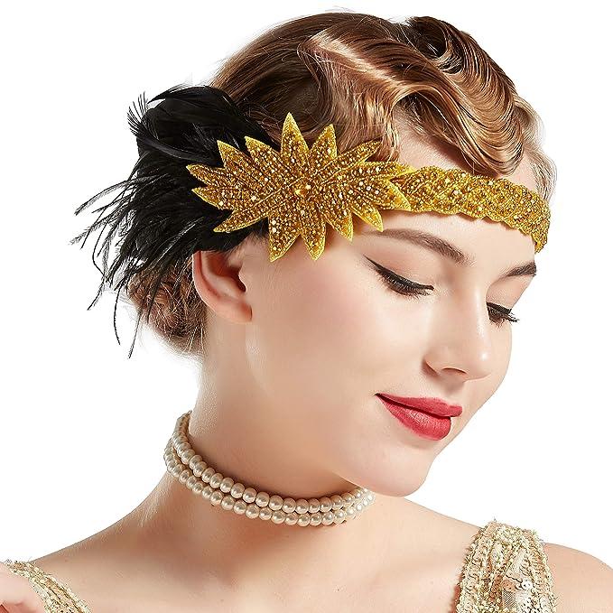 Roaring 20s Hair Jewellery Or Ring 1920 Shinny Fancy Dress Accessories