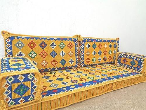 Arabic sofa,Arabic floor sofa,Arabic floor seating,Arabic couch,Oriental floor seating,Jalsa,Majlis,Yoga mats- MA 97