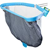 """U.S. Pool Supply Professional Heavy Duty 18"""" Swimming Pool Leaf Skimmer Rake with Deep Double-Stitched Net Bag - Strong…"""