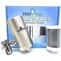 H2O Taps Filtro de Agua para Grifo | Acero Inoxidable | Filtra Cloro, Plomo y Elimina Mal Olor y Sabor del Agua…
