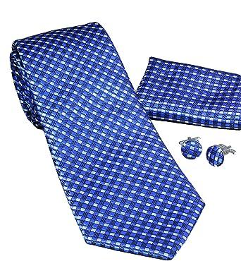 MONETTI Set de Corbata - 100% seda - Azul Negro Blanco - en la ...
