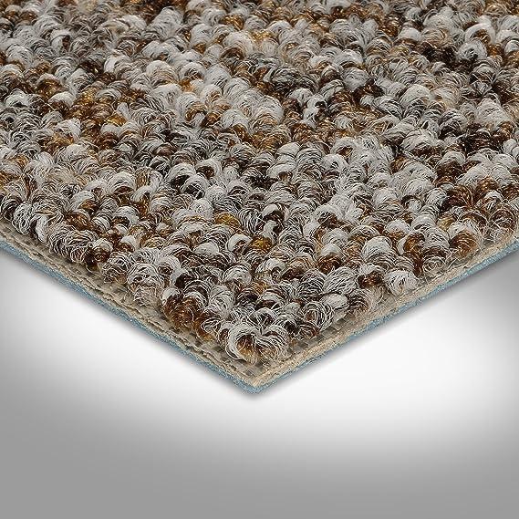 4,5 x 5 m 300 400 und 500 cm breit grau braun BODENMEISTER BM72269 Teppichboden Auslegware Meterware Schlinge meliert 200