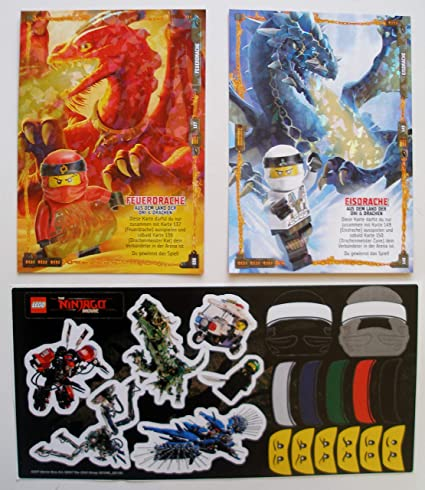 Lego Ninjago Trading Card Serie 4 - 2 Mega XXL Tarjetas + ...