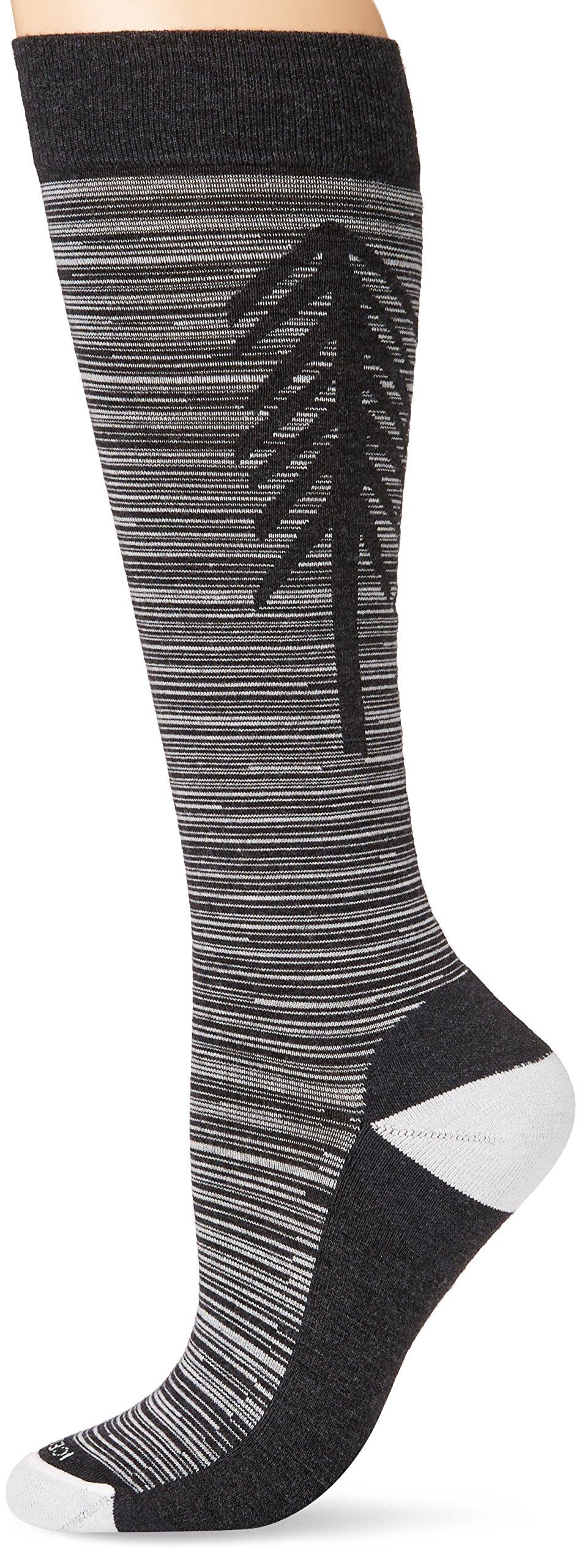 Icebreaker Merino Women's Lifestyle Light Over The Calf Socks, Jet Heather/Snow, Large