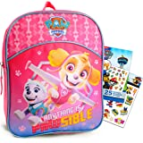 "Paw Patrol Backpack for Girls Bundle ~ Premium 11"" Skye Paw Patrol Mini School Bag for Toddlers with Bonus Stickers and…"