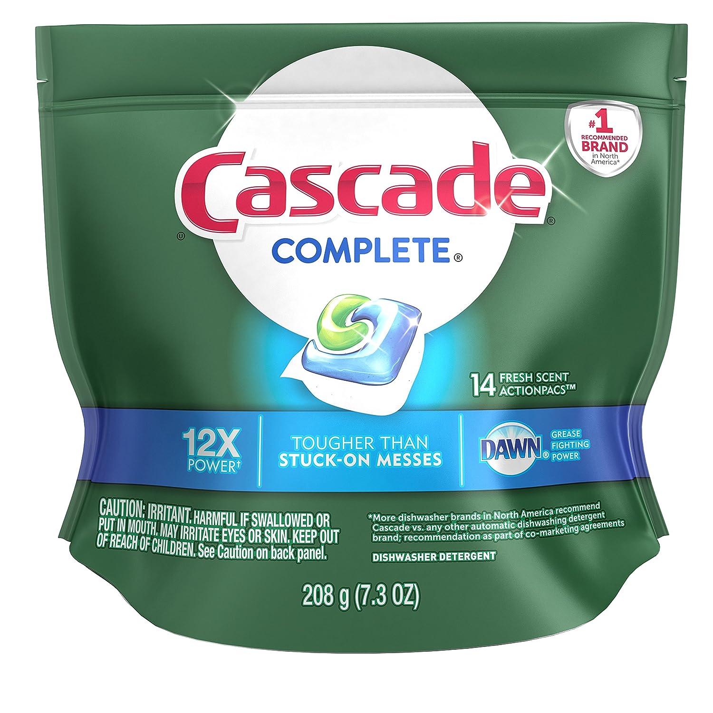 Cascade Complete ActionPacs Dishwasher Detergent, Fresh Scent 14 ea