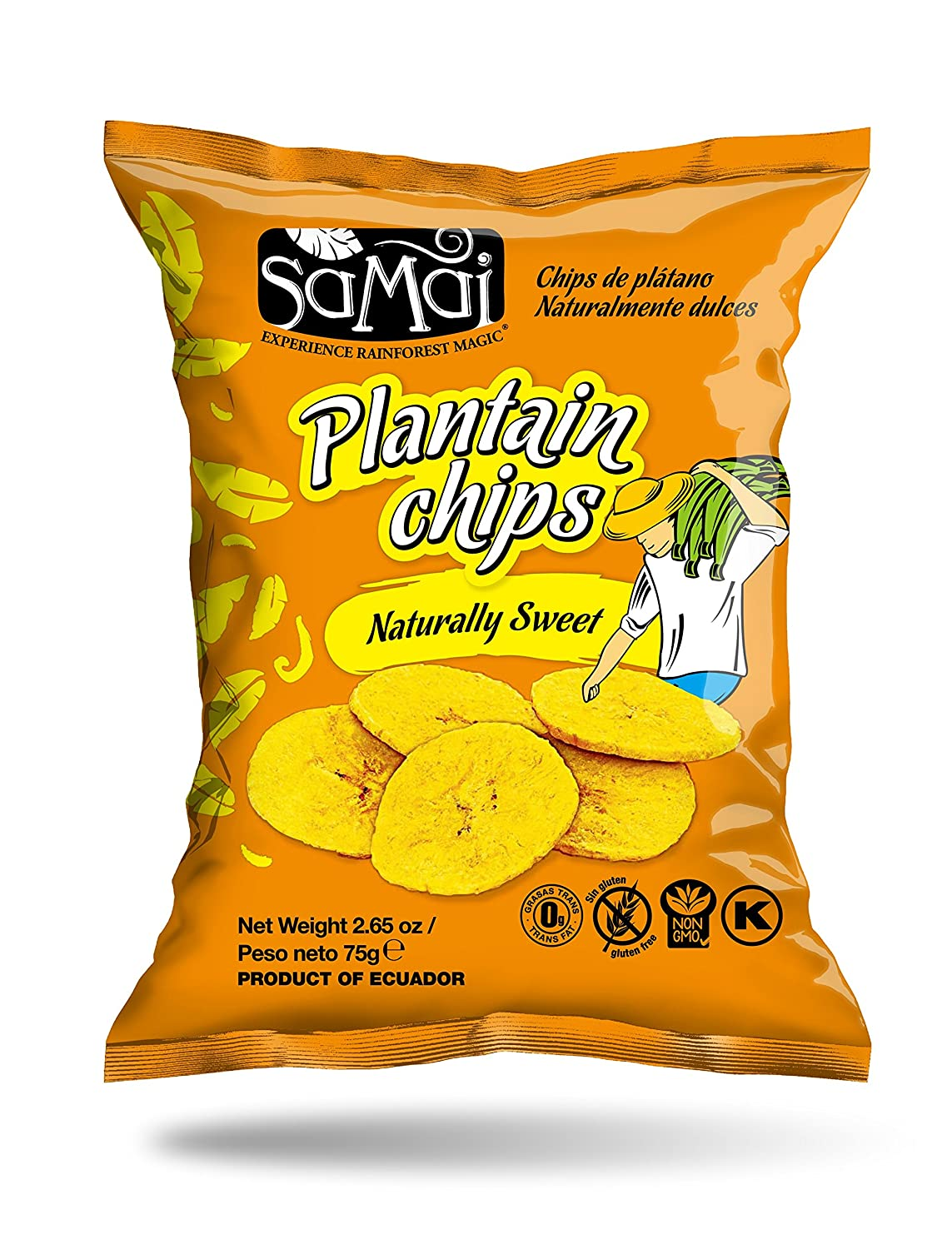 Amazon.com : Samai Plantain Chips Sea Salt 15 oz (Pack of 12) : Grocery & Gourmet Food