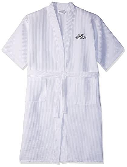 Image Unavailable. Image not available for. Color  Luxor Linens Egyptian  Cotton Hers Waffle Weave Robe - Perfect Wedding Gift! e67644846