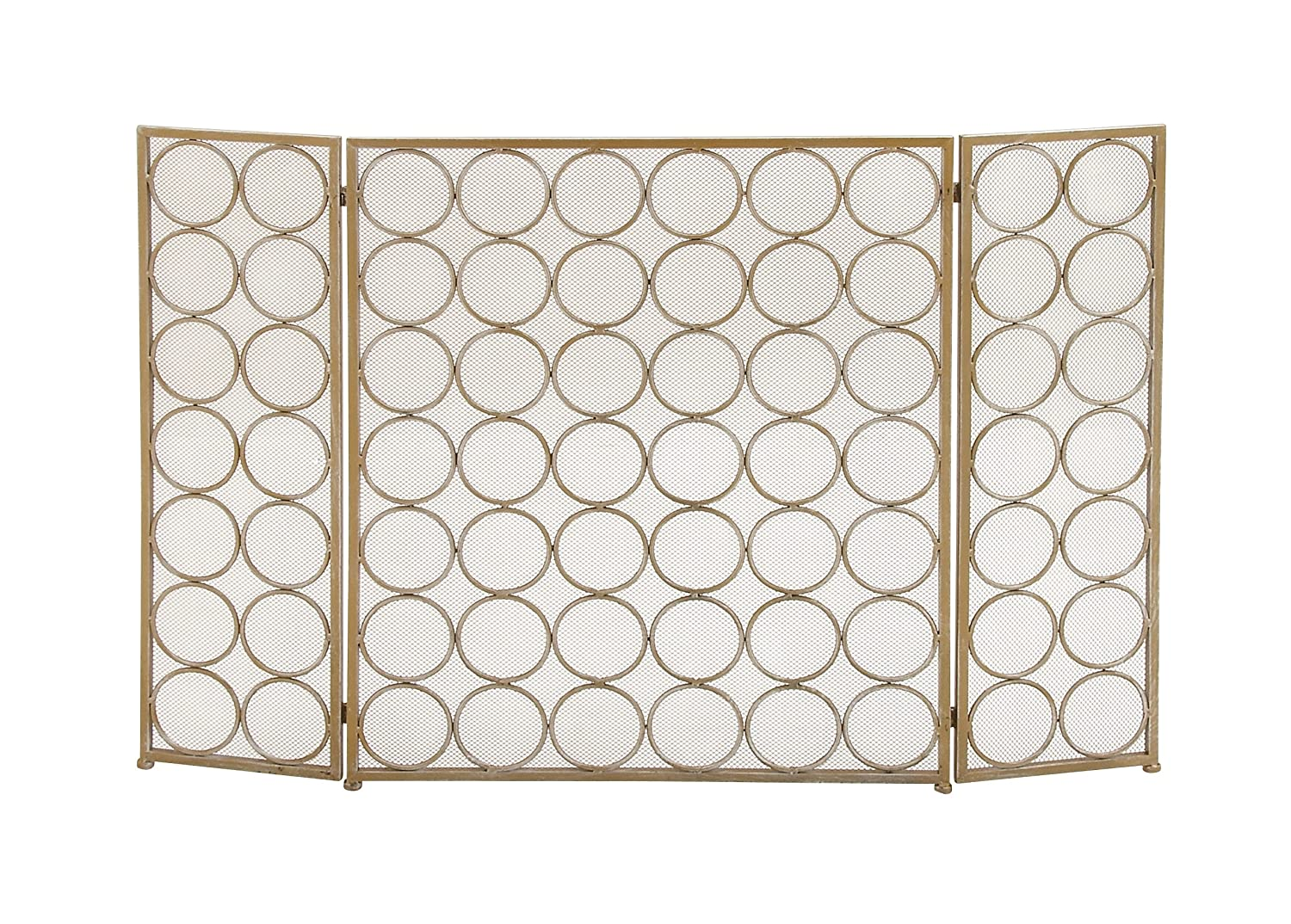 Deco 79 50365 Remarkable Metal Fire Screen Benzara