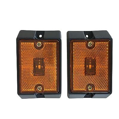 MAXXHAUL 80745 Side Marker LED Amber Light - 2 Pack: Automotive