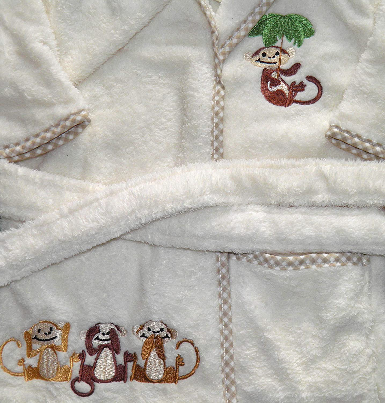 La Cotonniere B/éb/é Coton de Luxe Brod/é Costume Capuche//Peignoir