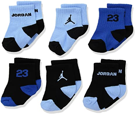 Nike Air Jordan bebé recién nacido calcetines azul, Cartucho negro ...