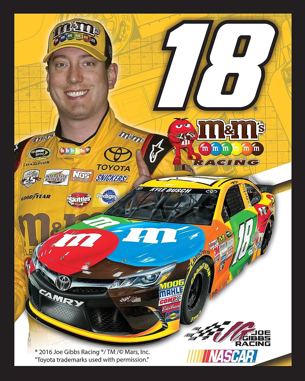 NASCAR Kyle Busch #18 Canvas Print Sports Memorabilia Photo Frames By Mail