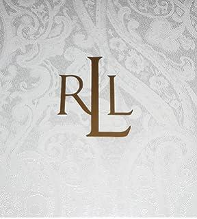 Ralph Lauren Paisley White Tablecloth, 70 By 84 Inch Oblong Rectangular