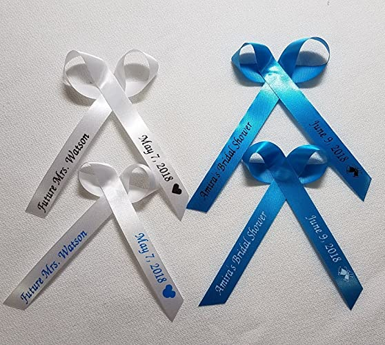 Amazon Com Personalized Ribbons For Bridal Shower Wedding Party