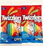"Twizzlers Twists ""Twist the Rainbow"" Fruit Flavored Candy (2 Pack)"
