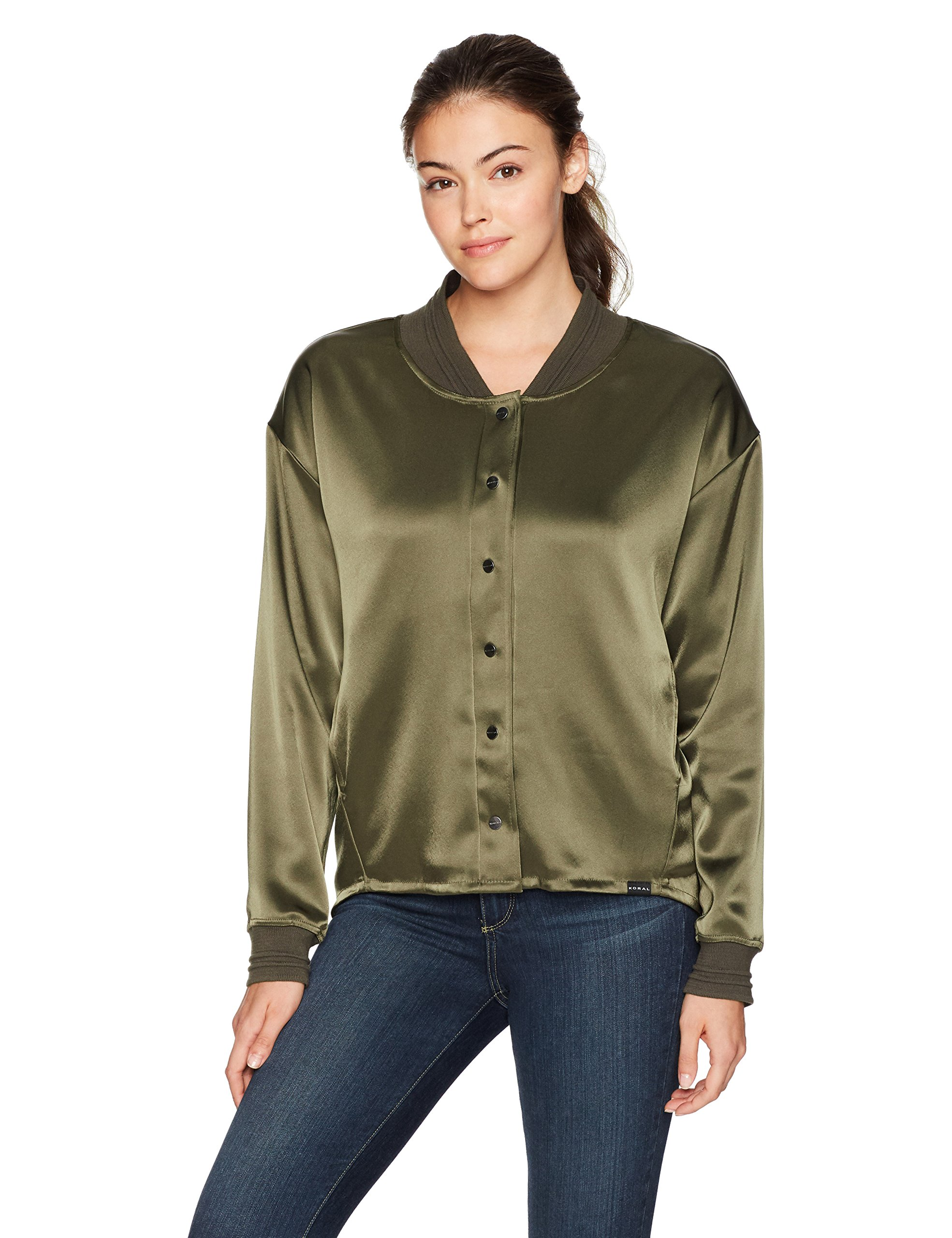 Koral Women's Brooklyn Bomber Jacket, Pine, S