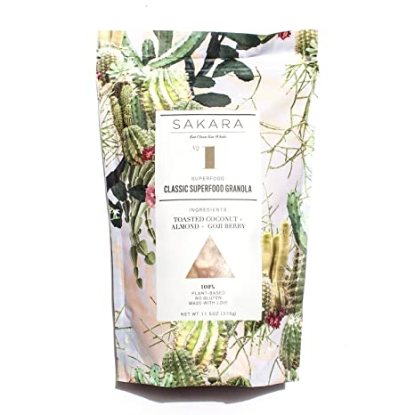 Amazon.com: Sakara Plant Protein Superfood Grain-Free Granola with Matcha and Mulberries, 11.5oz bag: