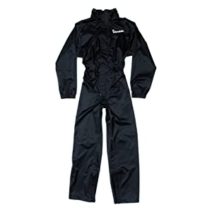 Vespa 605587 m03 N Combinaison de pluie imperméable, couleur noir, taille M