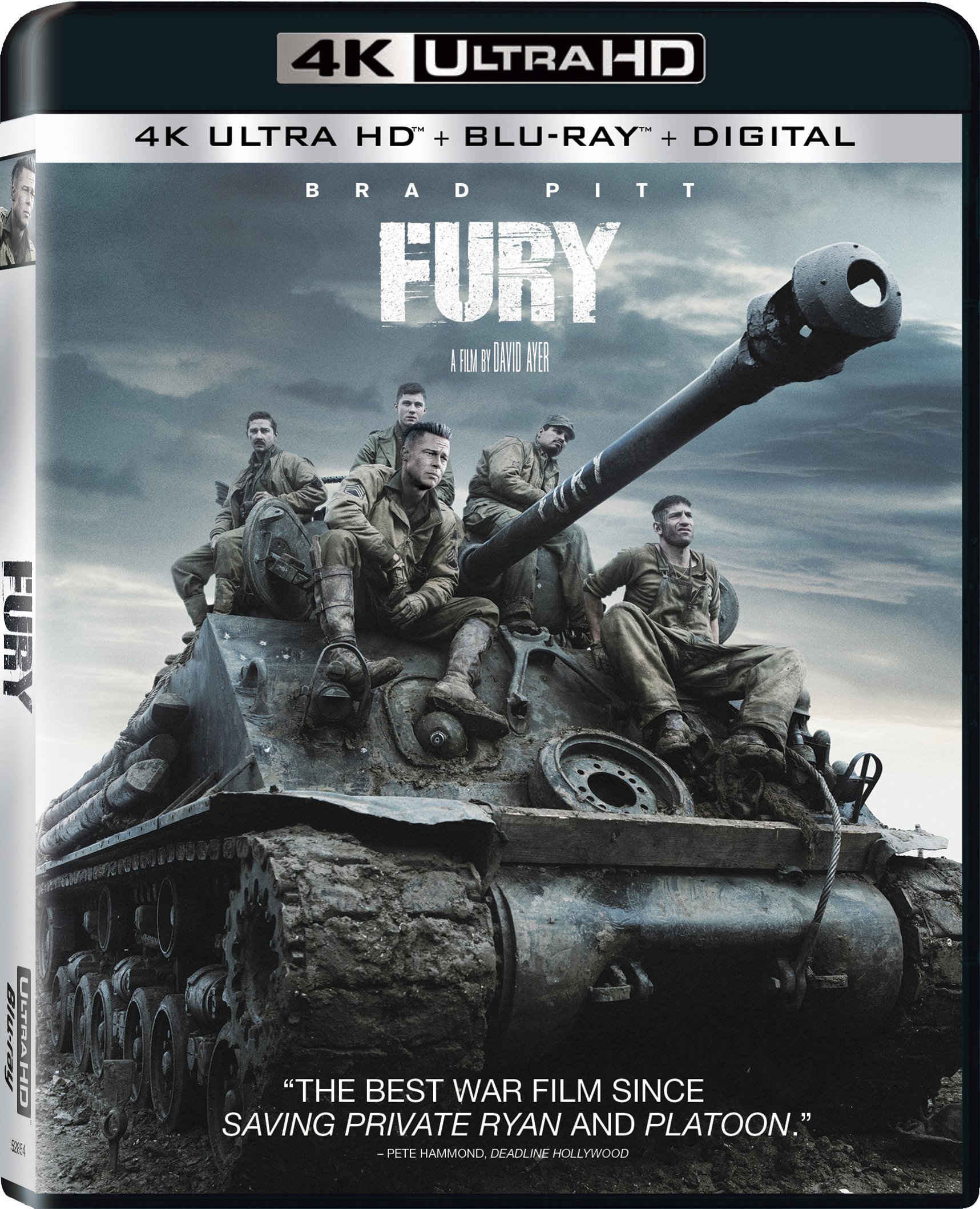 4K Blu-ray : Fury (With Blu-Ray, 4K Mastering, Dubbed, Subtitled, Widescreen)