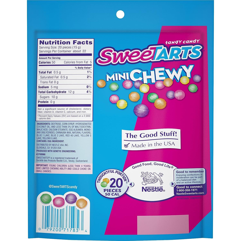 Amazon.com : Sweetarts Resealable Bag, Mini Chewy, 12 oz : Gummy ...