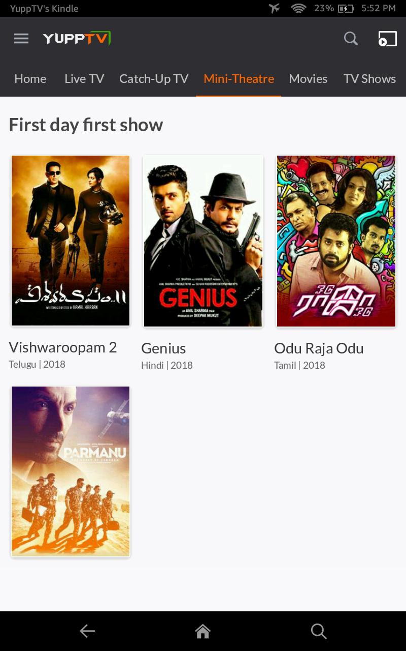YuppTV - Indian Mobile Live TV