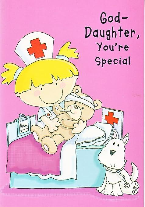Goddaughter Youre Special Nurse Birthday Card Amazon