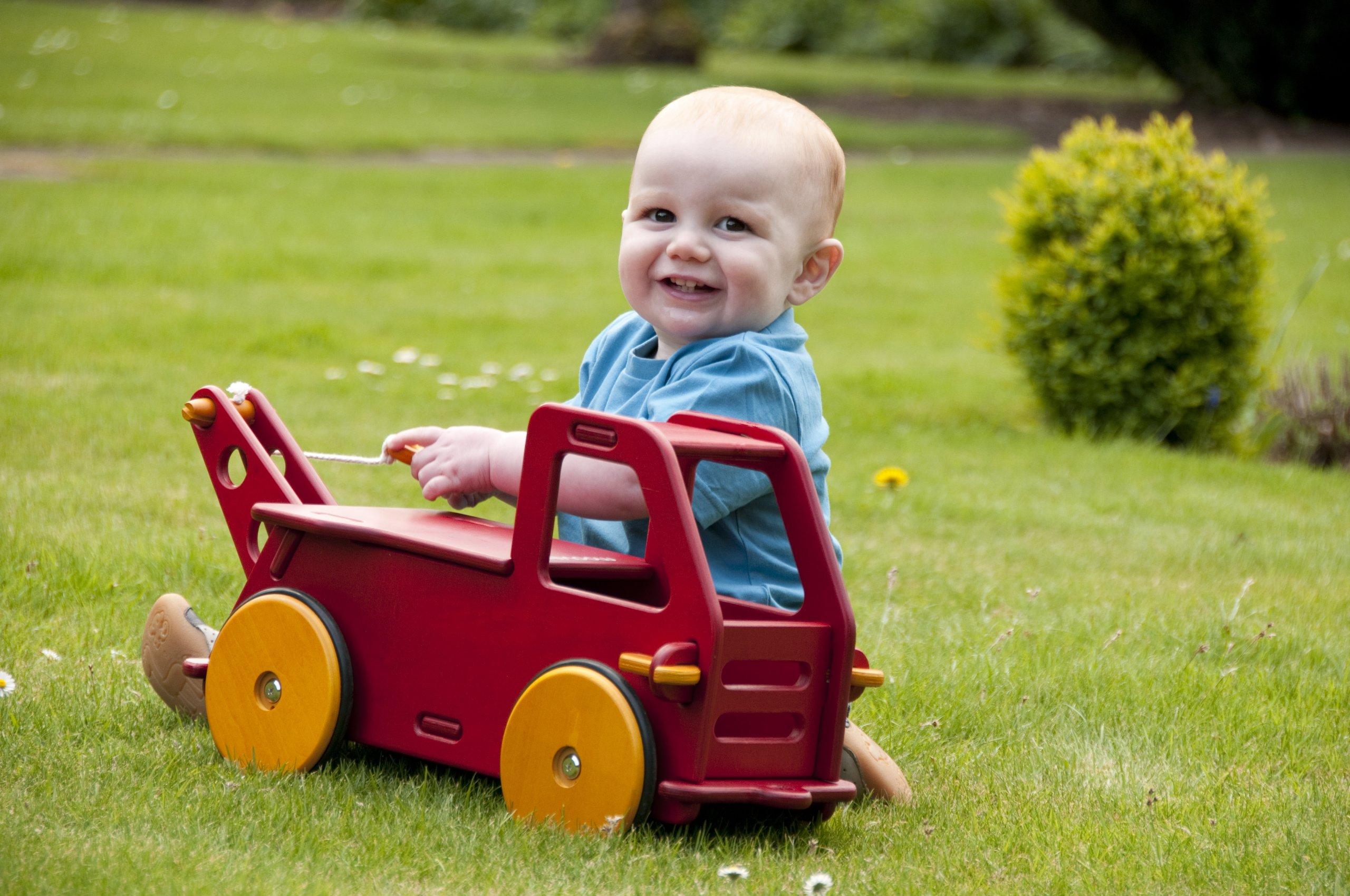 HABA Moover Baby Truck, Natural Wood