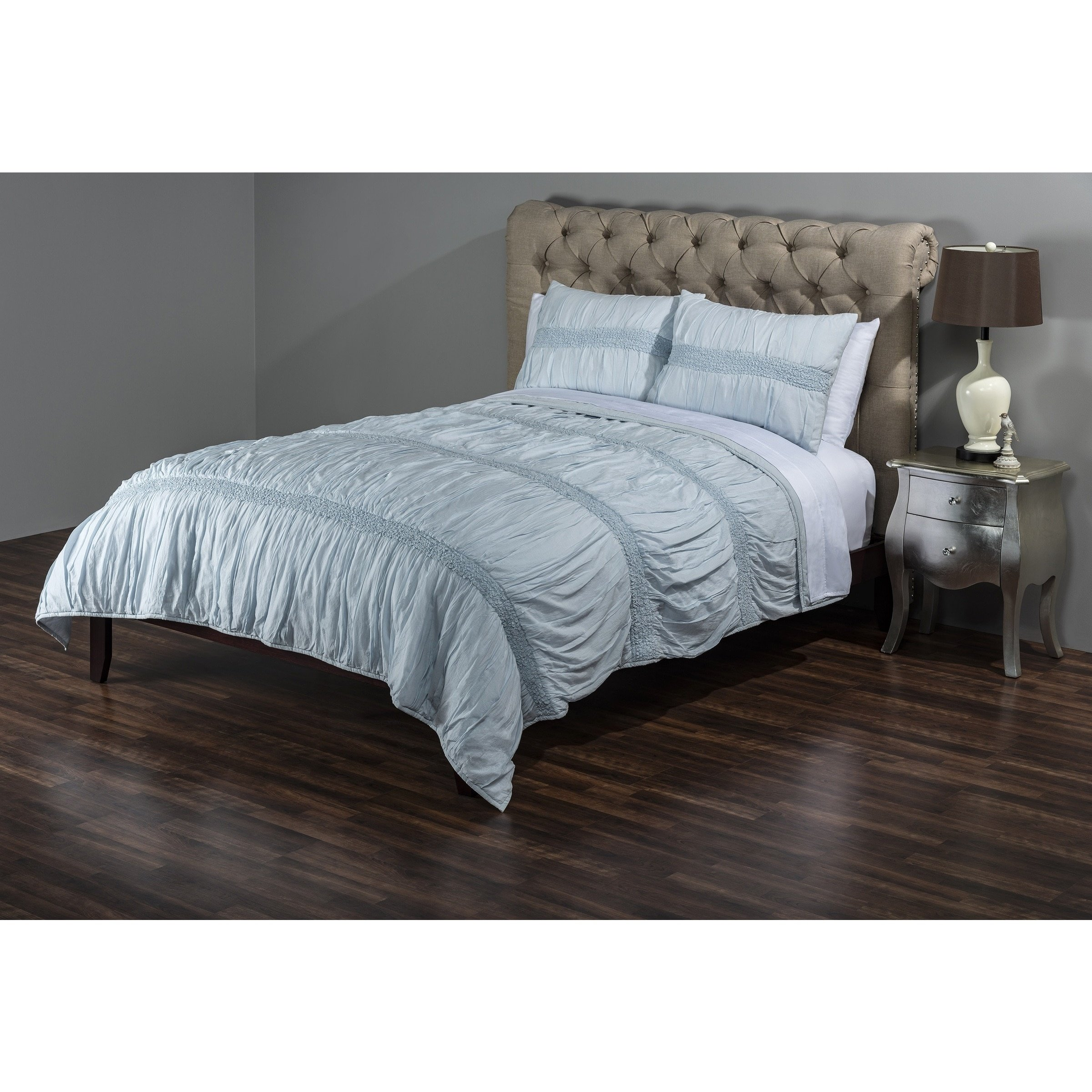 Rizzy Home QLTBT3043IB009092 Quilt, Spa Blue, Queen