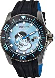 Invicta Men's 'Character Collection' Automatic Stainless Steel and Silicone Casual Watch, Color:Black (Model: 24475)