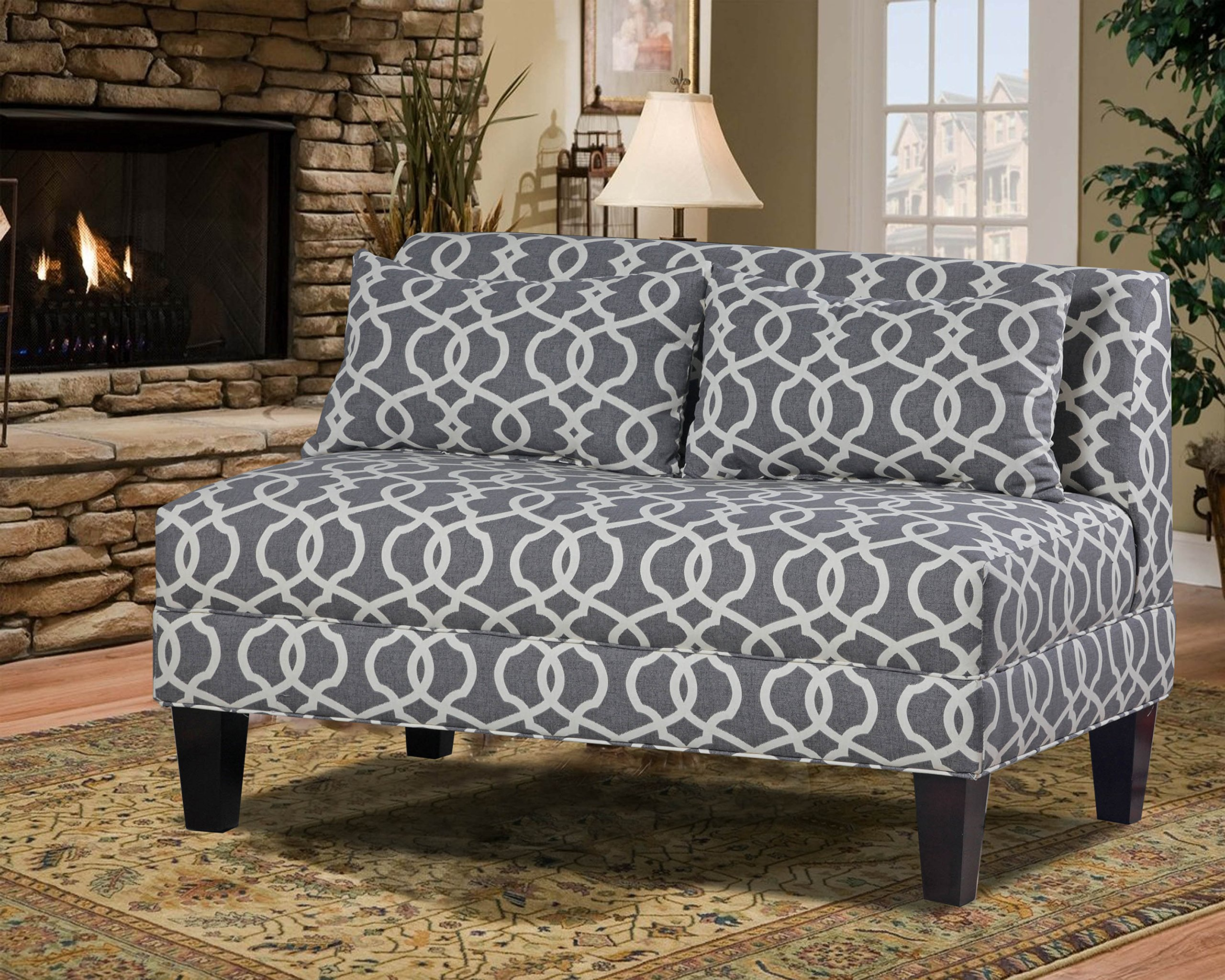 Carolina Accents Briley Armless Loveseat, Emery Pewter