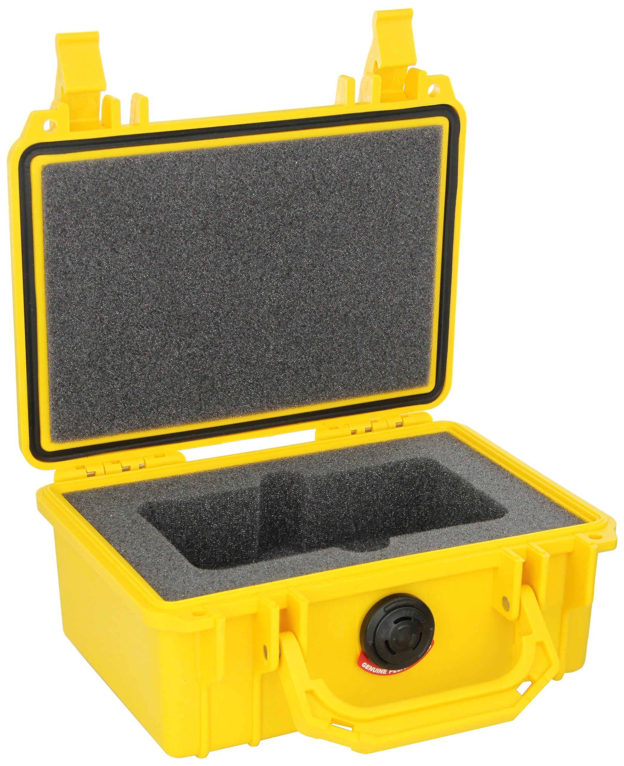Mazur Instruments PRM-HC-YL Pelican PRM Hard Field Case, 7-1/4'' Length x 4-3/4'' Width, Yellow