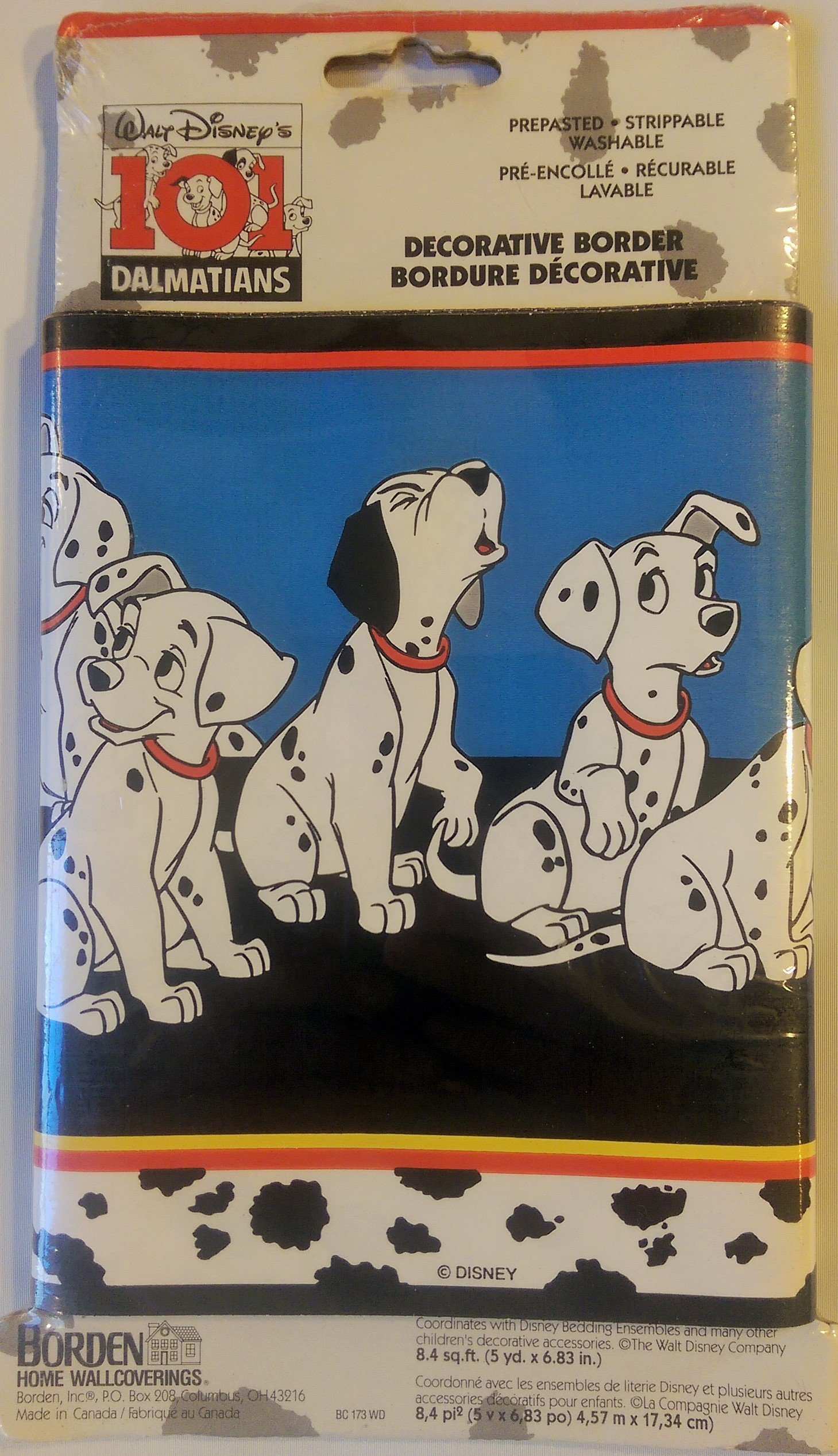Walt Disney's 101 Dalmatians Wallpaper Border 8.4 SQ Ft (5 yd by 6.83 in)
