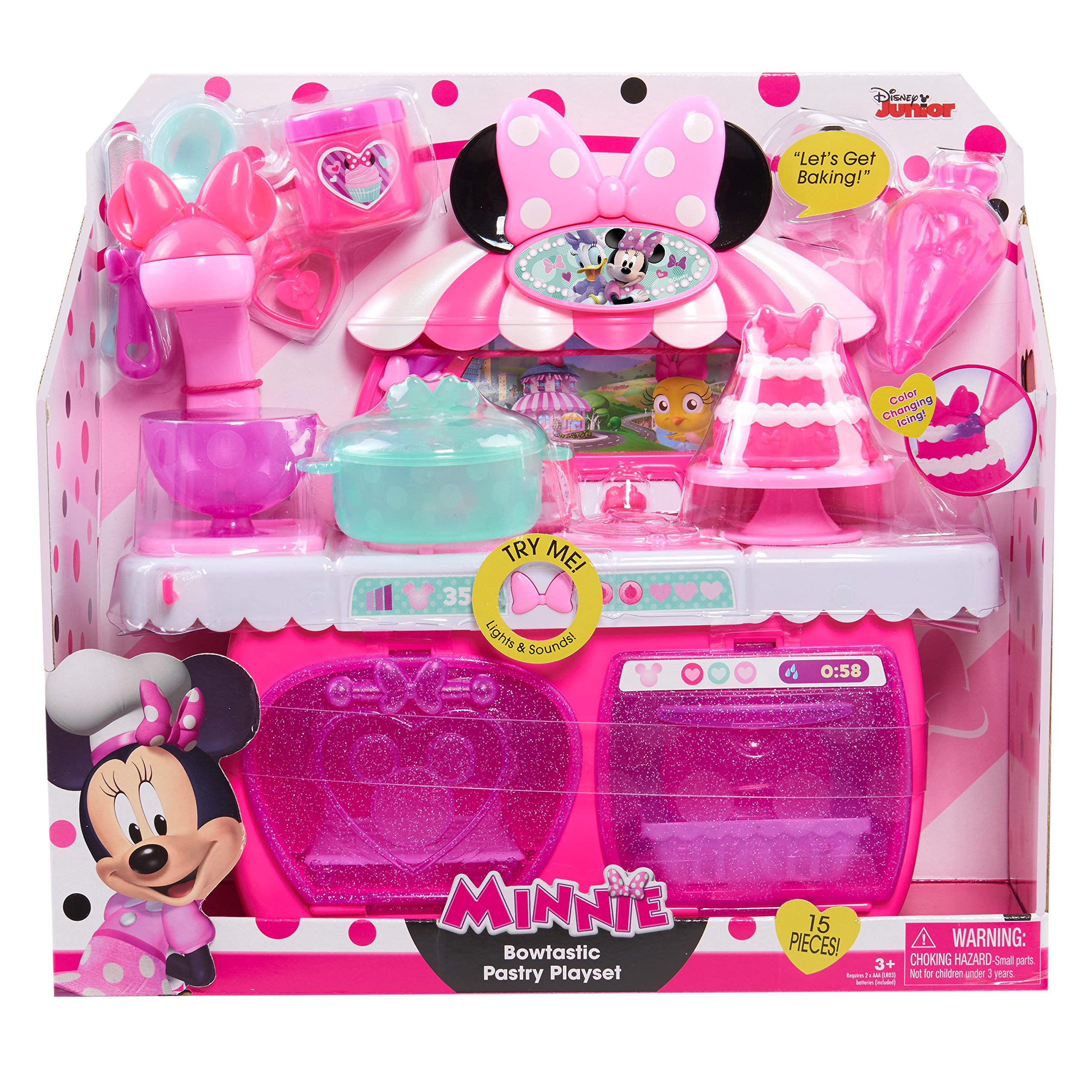 Minnie's Happy Helpers Bowtastic Pastry Playset, Pink by Minnie