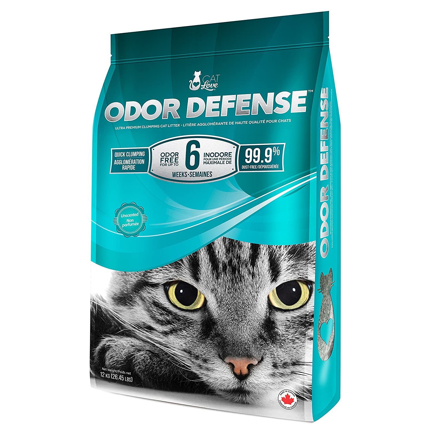Cat Love Unscented Premium Clumping Cat Litter, 26.5 lb