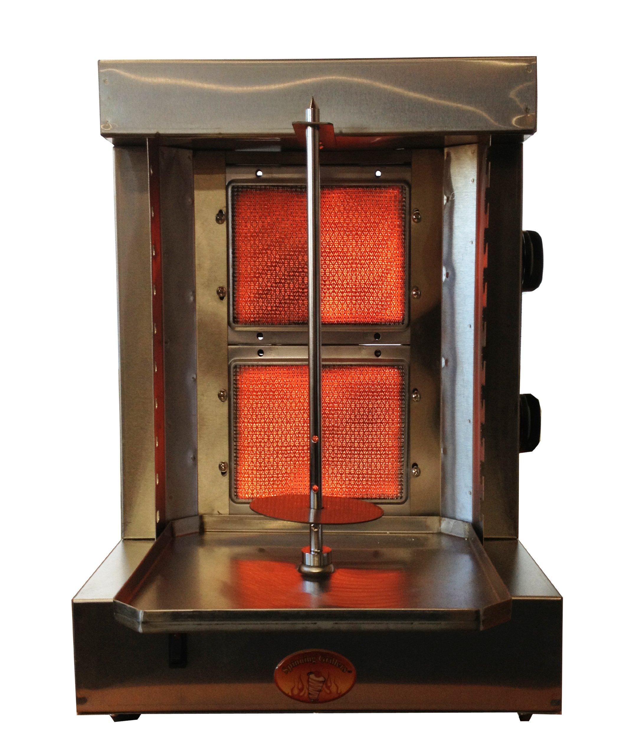 Spinning Grillers 5 in 1-Shawarma Machine-Gyro Machine-Donar Kebab Machine-Tacos Al Pastor Machine –Backyard Vertical Rotisserie and Kebab Grill