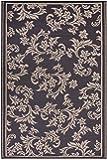Fab Hab - Versailles - Alfombra para Exterior e Interior - Chocolate y Tostado - (90 cm x 150 cm)