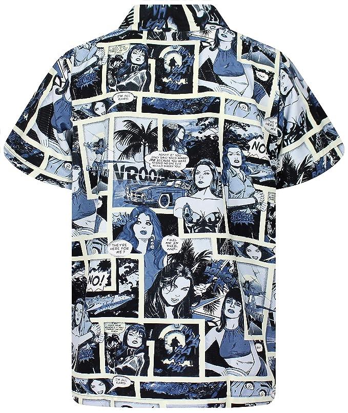 Amazon.com: King Kameha - Camiseta hawaiana para hombre ...