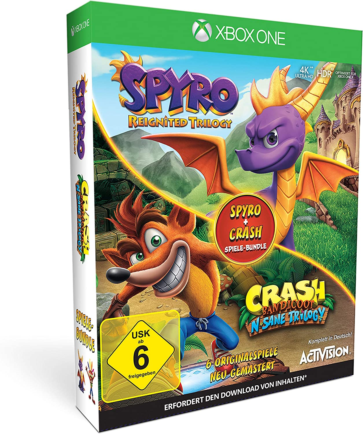 Spyro + Crash Remastered Spiele Bundle - Xbox One [Importación alemana]: Amazon.es: Videojuegos