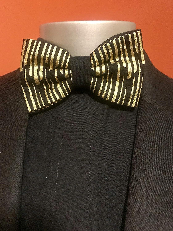 2f263a7dea5e Amazon.com: Black and Gold Bow Tie Set: Handmade