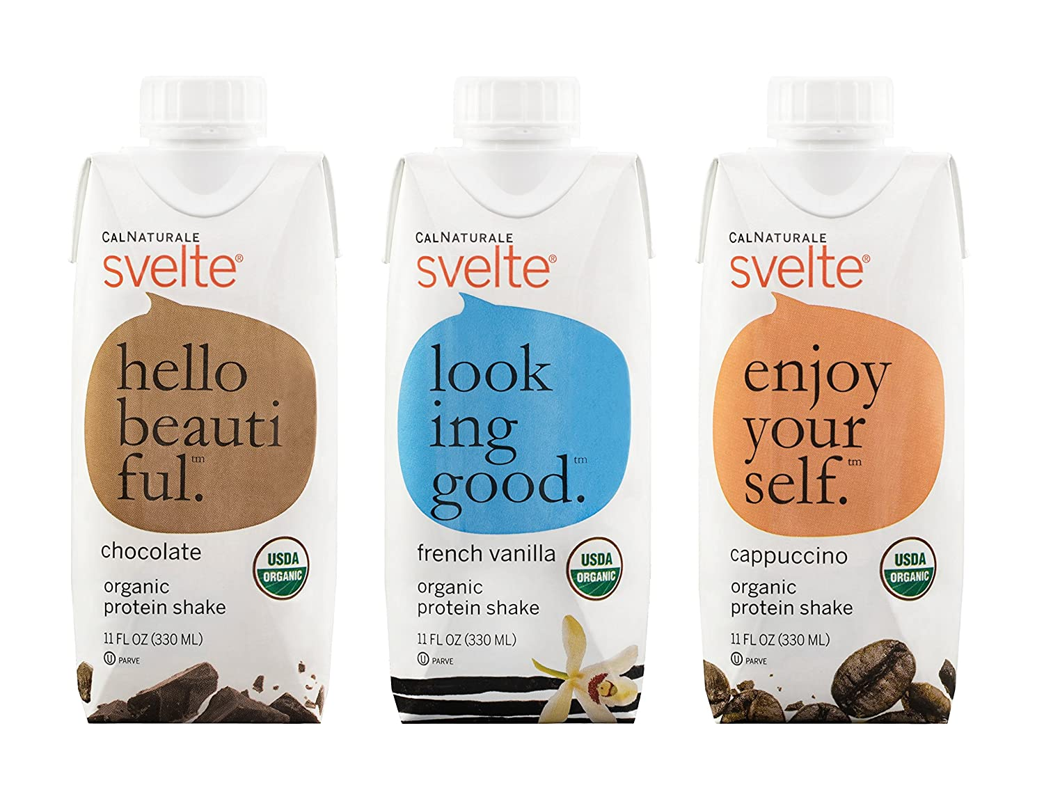 Amazon.com : Svelte Organic Protein Shake, Variety Pack, 11 Ounce (Pack of  12) : Protein Ready To Drink Beverages : Grocery & Gourmet Food