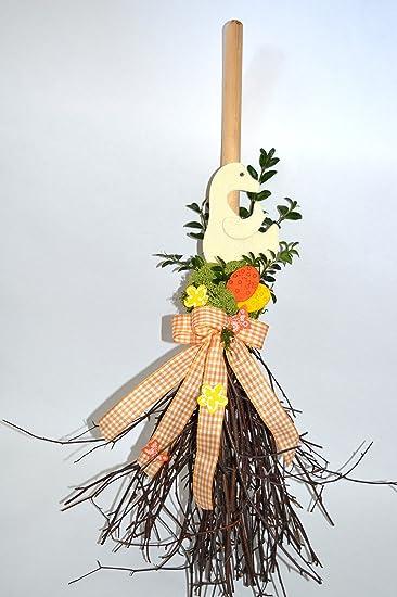Türhänger Reisigbesen mit Deko Frühling: Amazon.de: Küche & Haushalt