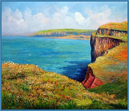 Orenco Originals The Cliffs at Etretat by Claude Monet Counted Cross Stitch Pattern