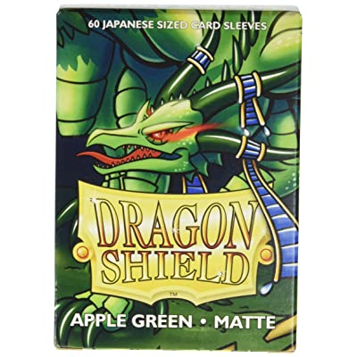 Arcane Tinman Dragon Shield Sleeves - Matte Japanese Apple Green (60) Card Sleeves: Toys & Games