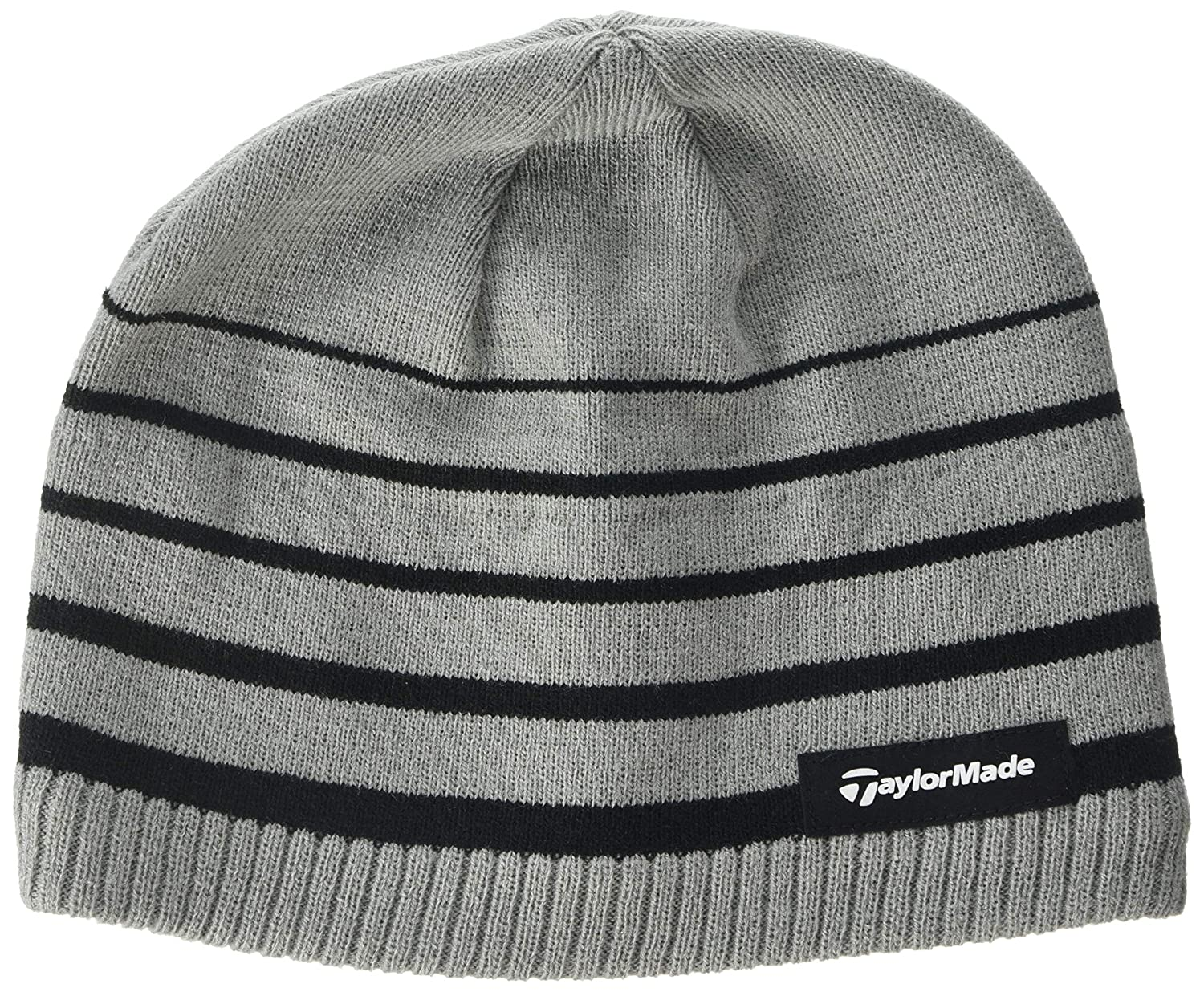 99140297 TaylorMade Golf TM Stripe Beanie, Black, One Size: Amazon.co.uk: Sports &  Outdoors