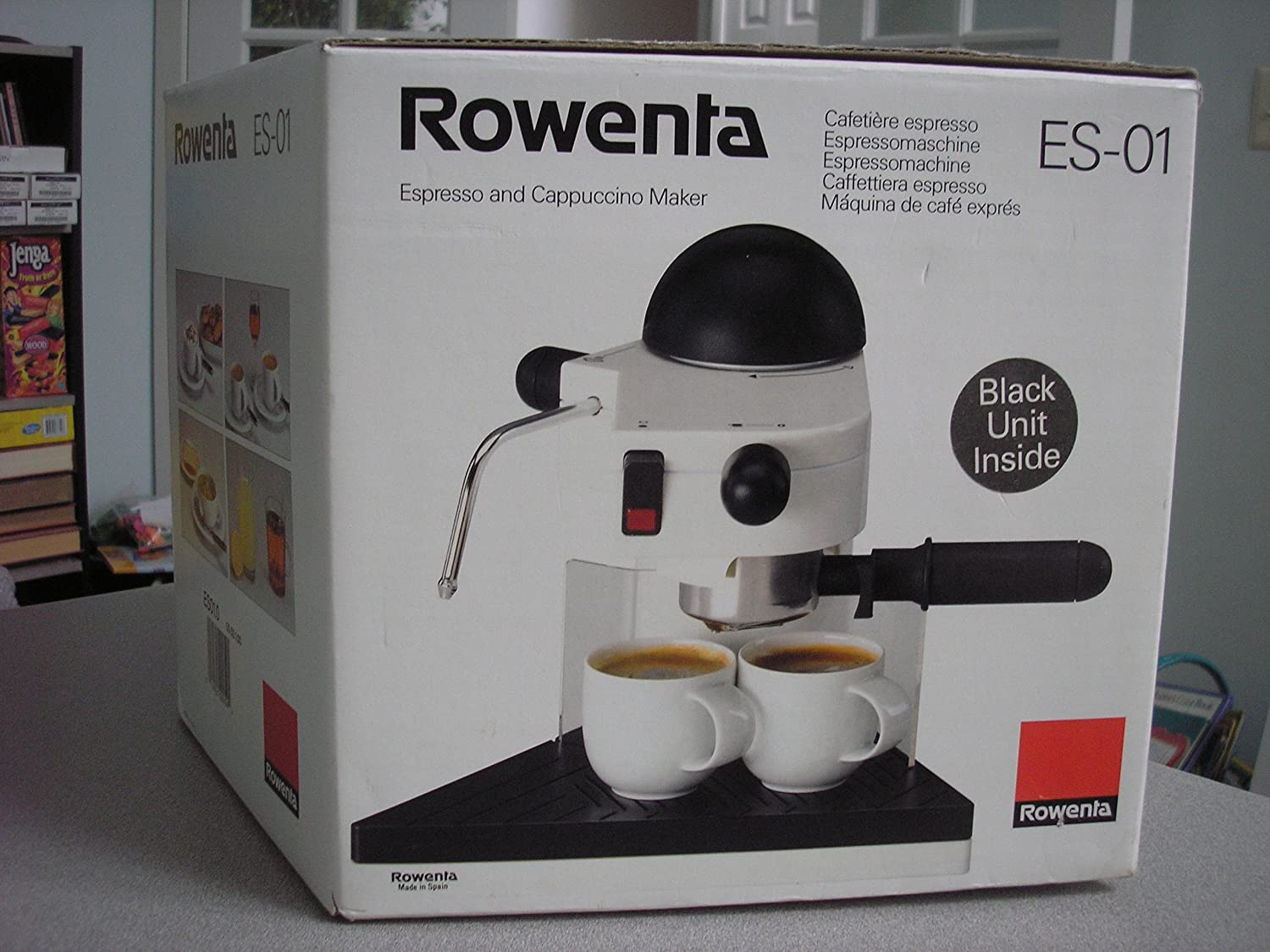 Amazon Com Rowenta Espresso And Cappuccino Maker Es 01 Kitchen