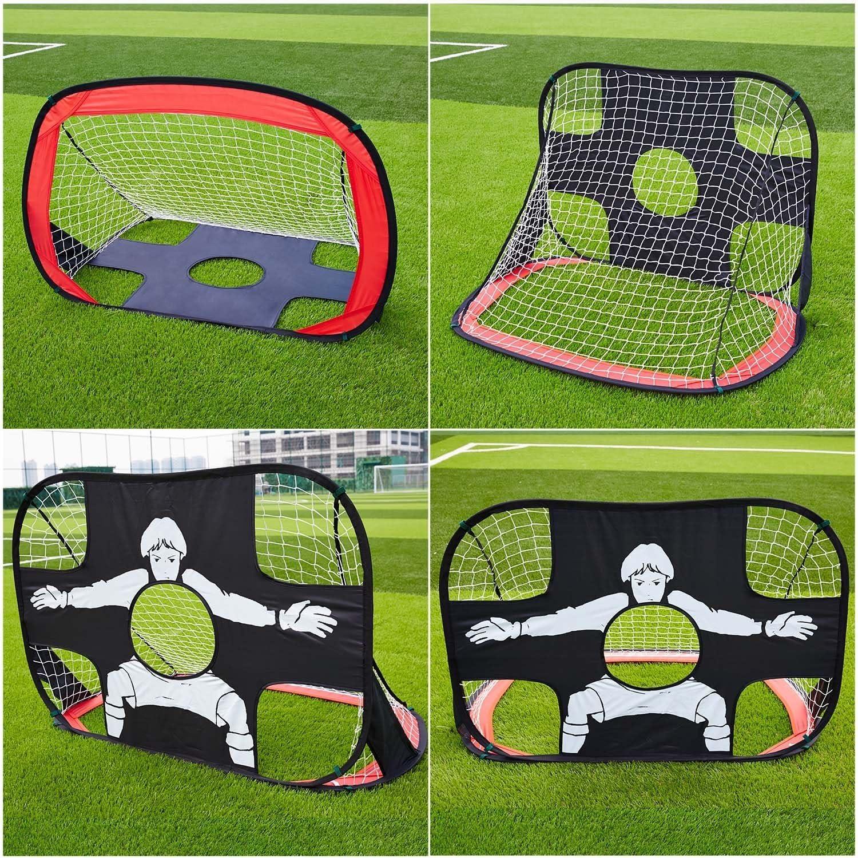 OUTAD Portería de Fútbol para Práctica (110 x 80 x 80cm, 210D ...