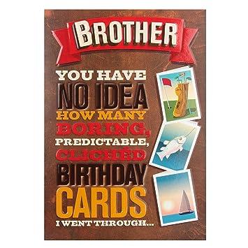 Hallmark Birthday Card For Brother Bad Taste Medium Amazon