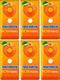 Mentos Now Mints - Orange - Sugar Free - Net Wt. 1.09 OZ (31 g) Each - Pack of 6